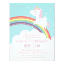 unicorn birthday invitations announcements zazzle