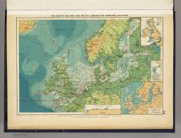 Baltic Sea Map North Sea Baltic Cables Wireless Stations David Rumsey