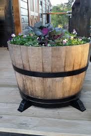 wine barrel planter feet u2013 wine country craft