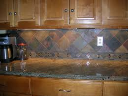 slate backsplash tiles for kitchen wondrous brown wooden kitchen cabinetry system with marble