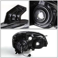Nissan Altima Black - xenon 02 04 nissan altima crystal headlights amber black
