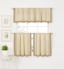 beige u0026 tan tier curtains 30 x 36 in sears