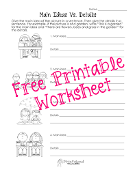 main idea and detail worksheets free worksheets library download