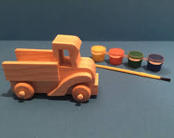 Diy Wooden Toy Truck by Wooden Truck Etsy