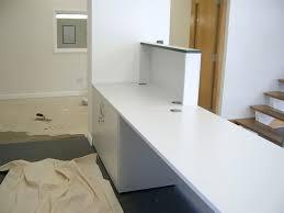 Bespoke Reception Desk Desk Built In Reception Desk These Images Show The Progression