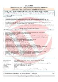 Sample Resume Network Administrator Linux Admin Sample Resume Resume For Your Job Application