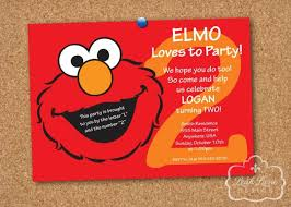 template free printable elmo birthday e invitations with