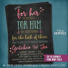 co ed bridal shower chalkboard something for him or something for the both of
