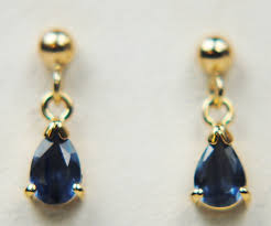 9 carat gold earrings sapphire 9 carat yellow gold earrings h40 5045 11