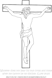 on the cross printable coloring pages of jesus for kids in