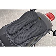 amazon com gel pad seat cushion for motorcycles with memory foam