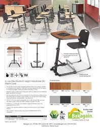 up rite adjustable height sit u0026 stand desk office classroom