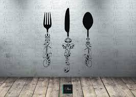 utensil decals kitchen wall decal knife spoon fork utensil decals kitchen wall decal knife spoon fork dining room large art vinyl sticker decor