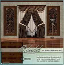 reloaded for gcd classic curtain set 3d models boundless