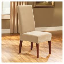 Dining Chair Short Slipcovers Stretch Pinpoint Short Dining Room Chair Cream Sure Fit Target