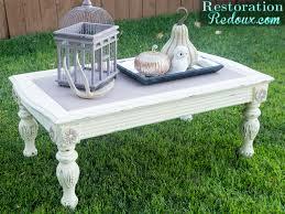 Vintage Americana Decor Chalky Finish Coffee Table Restoration Redoux