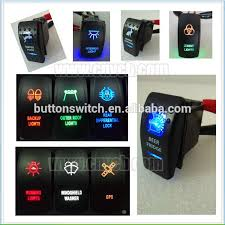 lighted rocker switch 12v marine boat car blue reverse light rocker switch 5pins spst on off