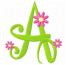 embroidery font with flowers makaroka com