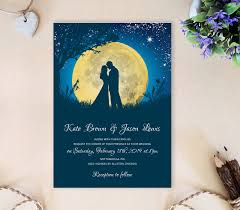 wedding invitations blue moon wedding invitations lemonwedding