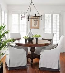 slipcovered parsons chairs slipcovered parsons dining chairs at table kristywicks com