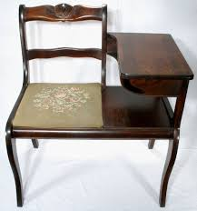 Desk Chair For Sale Vintage Frankson Mahogany Wood Telephone Phone Table Gossip Chair