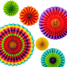 paper fans 2018 paper fans decoration ful yellow orange green cinco de