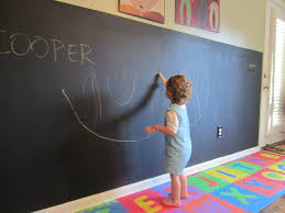 chalkboard wall in playroom this is will in my children u0027s
