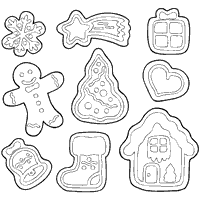 Candy And Sweets Coloring Pages Surfnetkids Coloring Cookies