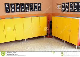 Locker Room Furniture Children U0027s Lockers In The Locker Room Of The Nursery Stock Photo