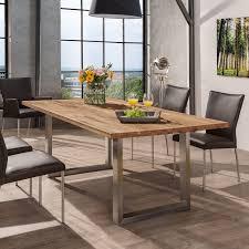 Esstisch Queens Tisch Esszimmer Akazie Steel 2 Kufentisch Esstisch 160x90 Wildeiche Eiche Edelstahl Kufen