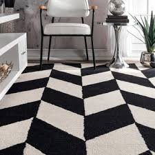 Black White Runner Rug Nuloom Handmade Abstract Pixel Trellis Black Off White Wool