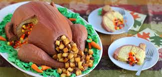 thanksgiving pinata turkey cake candy filled thanksgiving dessert fit for a crowd