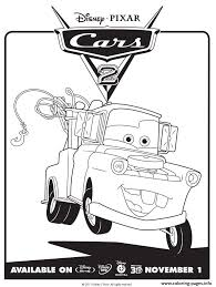 disney cars 2 mater coloring pages printable