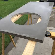 How To Build An Outdoor Kitchen Counter by How To Make Your Own Big Green Egg Table With Concrete Counter Top