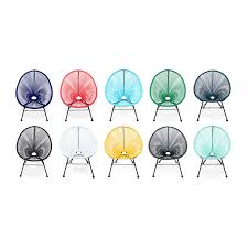 Egg Bistro Chairs Egg Designer Retro Bistro Chair Acapulco Grey Pvc Designer