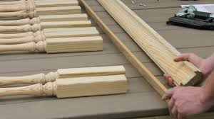 Installing Balusters And Handrails How To Install Handrails And Lattice Strips From S U0026l Spindles