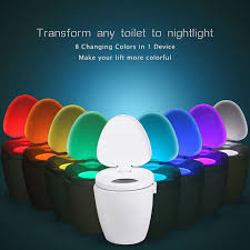 toilet light 8 color usb charge toilet night light bathroom motion activated