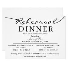 rehearsal dinner invitation black white script rehearsal dinner invite zazzle
