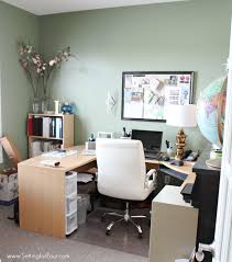 home office furniture ideas with storage setting for four
