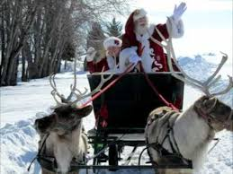 santa sleigh and reindeer santa reindeer sleigh rides