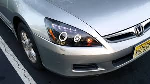 2004 honda accord headlights 2003 2007 honda accord spec d halo projector headlights review