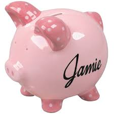 Personalized Silver Piggy Bank Personalized Kids Piggy Bank Personalized Piggy Bank Miles Kimball