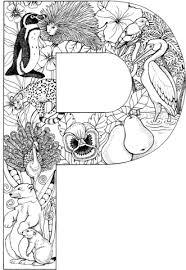 imagenes en ingles con la letra p la letra p dibujo para colorear doodle basics pinterest las