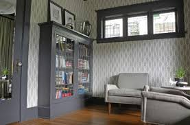 Small Bookcases With Glass Doors Furnitures Small Library With Midcentury Sofa Near Grey Bookcase