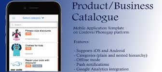 buy product catalog cordova app template business for android