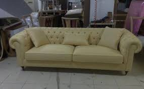 Yellow Leather Sofa Leather Chesterfield Sofa Yellow Leather Interior Design