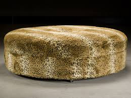 Animal Print Furniture by Furniture Animal Print Ottoman Circle Ottoman Light Brown