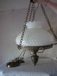 Milk Glass Chandelier Vintage Milk Glass Hanging Lamp Chandelier Dining Room
