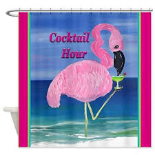 Flamingo Shower Curtains Birds Shower Curtains U2013 Art Gifts By The Beach
