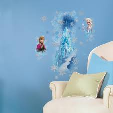 the roommates decor holiday gift guide roommates blog giant frozen ice palace wall decals for girls featuring elsa and anna